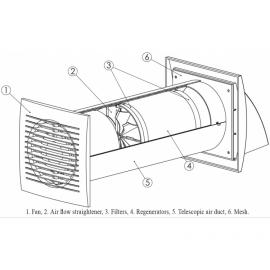 Europlast EER100S Εναλλάκτης Θερμότητας Αέρα με διακόπτη τοιχού